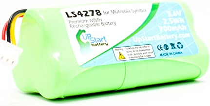 Replacement for Symbol LS4278 Rechargeable Battery - Compatible with Motorola Symbol LS4278 Barcode Scanner Battery (700mAh, 3.6V, NI-MH)