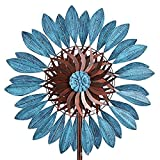 CYzpf Leaves Wind Spinner 213cm Single Blade Easy Spinning Kinetic Creativity Metal Ornaments for Outdoor Yard Lawn Garden