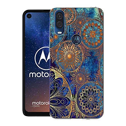 Motorola One Vision Case, CaseExpert® Pattern Soft Slim Gel Silicone TPU Back Cover Case for Motorola One Vision