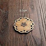 Posavasos Estera redonda de madera Estera de mesa Té Taza de café Mantel individual Decoración del hogar Accesorios de cocina, A