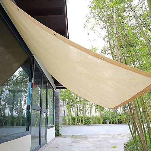 Schattiernetz 90% Sonnensegel,Sonnenschutznetz UV-Schutz,Sonnenschutztuch Mit Ösen,2M *2M,Garden Patio Sonnenschutz Markise Baldachin,Beige