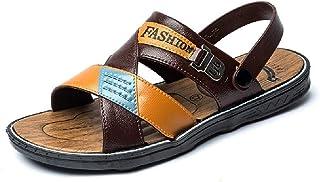 neveraway Men Shoes Open Toe Summer Slippers Sandals Non-Slip Comfy Slides