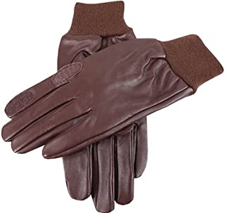 Dents Mens Purdy Hairsheep Leather Shooting Gloves - Brown