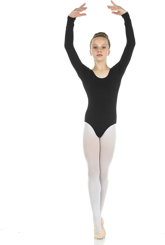Danzcue Girls Cotton Lowest OFFicial site price challenge Long Ballet Cut Leotard Sleeve
