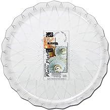 Fun® Festive Crystal Dish Serving Plastic Platter Set 24cm, Pack of 5