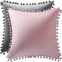 اغطية وسائد زينة مخملية لاريكة غرفة المعيشة والسرير بتصميم حديث كوردروي وكومفي ناعم، مكونة من قطعتين مقاس 45x45 سم