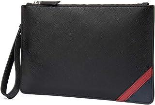 ab45124ca3e0 DANJUE Genuine Leather Men Clutch Bag Handbag Organizer Super Slim  Anti-theft Checkbook Wallet Card Case D8112