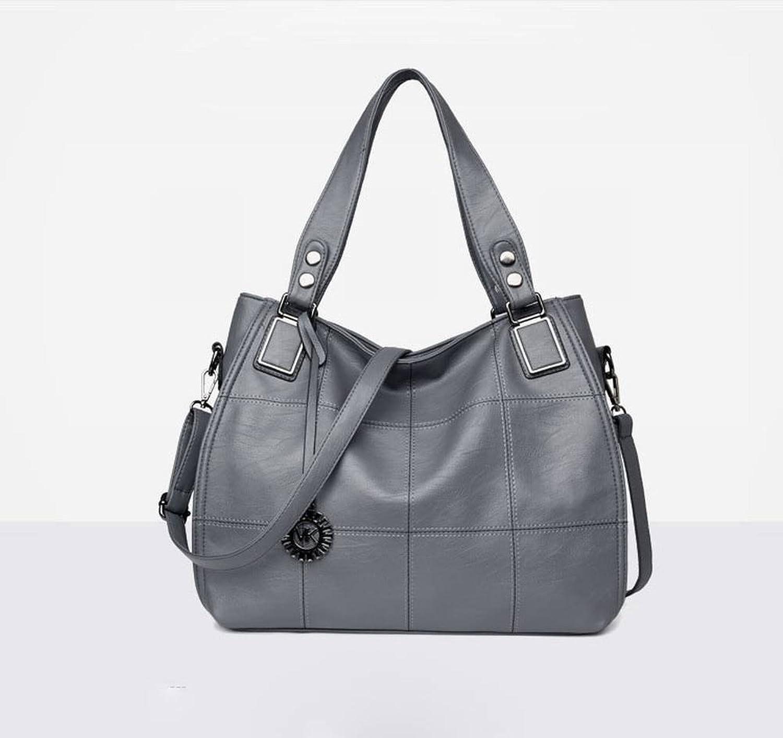 Weibliche Handtasche Freizeit und Mode in Der Mutter Paket Weiche Leder Umhngetasche Diagonal , hellgrau