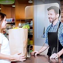 Niesbeschermer Transparant Acryl Paneel, met Transactievenster, Beschermend schild voor de Receptie Hotelkassier, Draagbar...