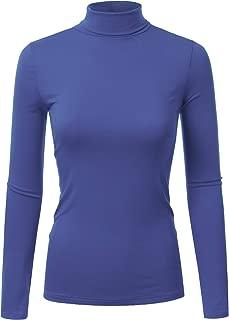 Doublju Soft Knit Turtleneck T-Shirt Top for Women with Plus Size