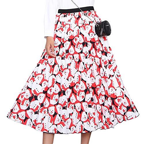 HAEMMA dames plooirok maxirok jurken lange rok plisseerok plissé maxi hoge elastische taille A-lijn plooien lang eenheidsmaat