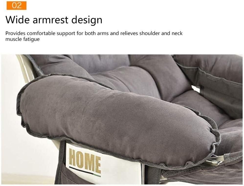 chaise FHW étage Simple de Pont avec Repose-Pied Simple Balcon Longue Hauteur réglable Longue avec Sac de Rangement latéraux for l'étude de Chambre (Color : Purple) Gray