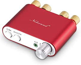 Nobsound NS-10G Mini Bluetooth 4.0 Digital Amplifier 100W HiFi Amp with Power Supply (Red)
