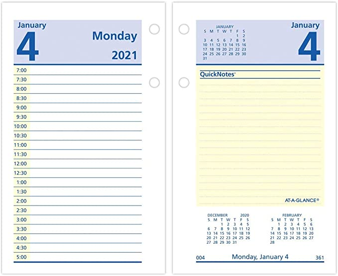 MARBIG DESK CALENDAR STAND ACRYLIC 2021 COLLINS TOP OPENING PUNCHED REFILL