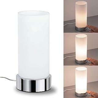 comprar comparacion Paulmann 77029 Pinja-Lámpara de Mesa de 3 encendidos táctil E14, 0 W, Cromo, Blanco, 11 x 11 x 24 cm