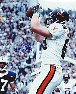 Heath Miller Signed 8x10 Photo Virginia Cavaliers - PSA/DNA Authentication - Autographed NCAA College Football Photos