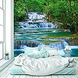 murimage Papel Pintado Cascada 274 x 254 cm Incluyendo Pegamento Fotomurales Río de la Selva Bosque Tailandia Asia