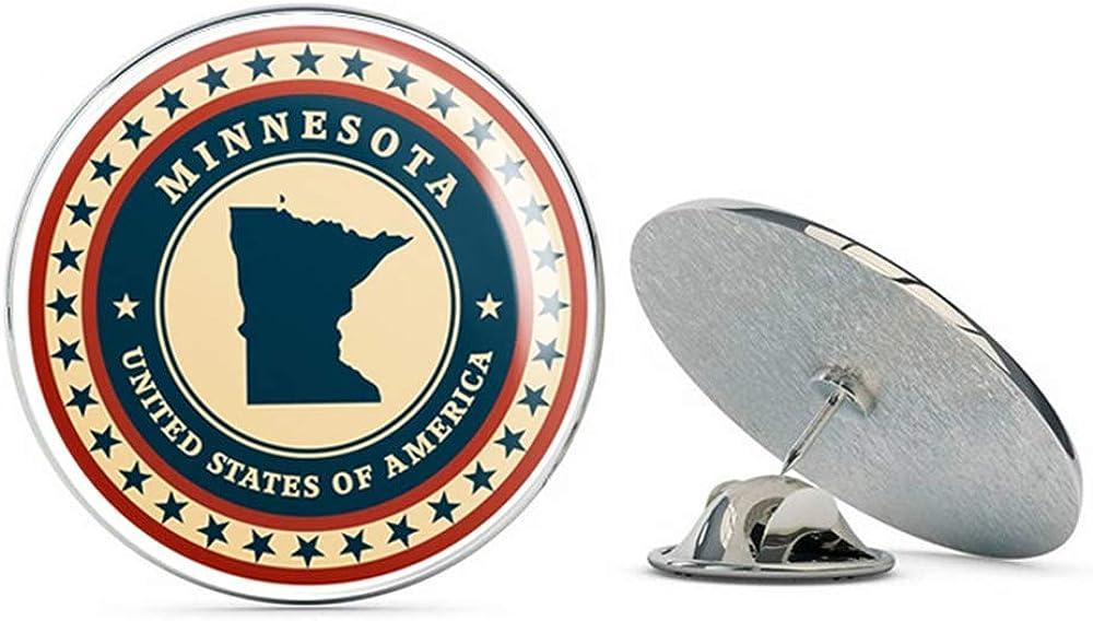 Minnesota USA Round Metal 0.75