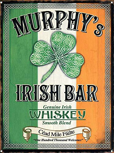 WallAdorn Murphy's Irish Bar Echter Irish Whisky Eisen Poster Malerei Blechschild Vintage Wanddekor für Cafe Bar Pub Home Bier Dekoration Handwerk