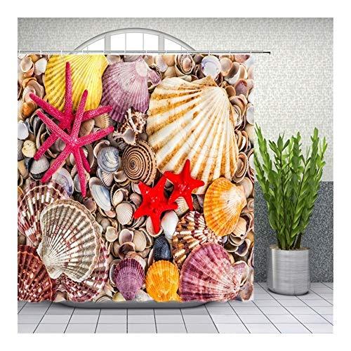 HUAJIANGHU Plato De Ducha Decoración Bañera Impermeable De Tela Juego De Cortinas (Color : 25, Size : 150180cm)