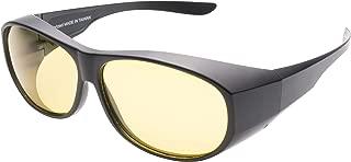 Fitover Night Driving Glasses - Cut Headlight Glare - Ultralight Durable TR90 Frame