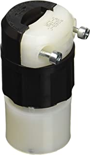 Leviton 5269-C 15 Amp, 125 Volt, Connector, Straight Blade, Industrial Grade, Grounding, Black-White