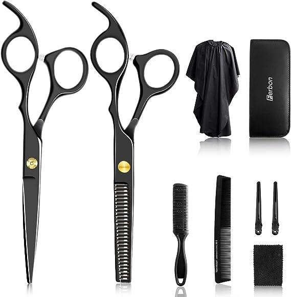 10Pcs Hair Cutting Scissors Set