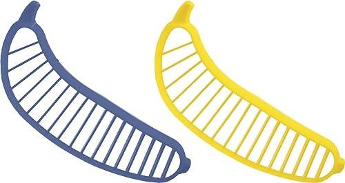 wholesale Banana Chips Cutter - Pack Of 2 wholesale - Easy 2021 Bananas Slicer Plastic Banana Cutter online sale