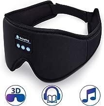 Sleep Headphones,3D Sleep Headphones Bluetooth 5.0,Perfect for Side Sleepers,Built-in Ultra Thin Speakers & MIC, Handsfree Call,Music,Washable,Ultra Soft,Travel Accessory,Unisex,Gift(Black)