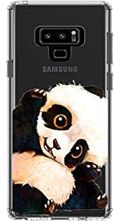 LEMONCOVER Phone Case Compatible with Galaxy Note 9 Case,Lovely Animal Pattern Soft Silicone Protective Shockproof Clear Cute Design Funny Bumper Back Cover for Galaxy Note 9, Panda