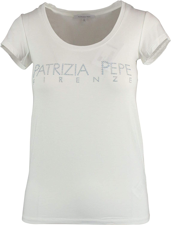 Patrizia Pepe Women's BM4125A13TW146 White Viscose TShirt