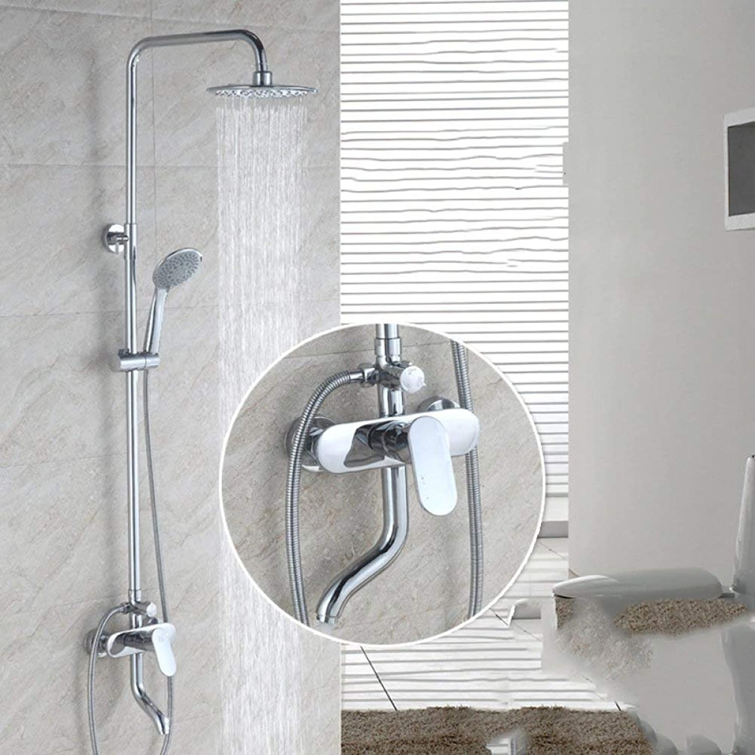 Shower Bath Rooms with All The Bronze Elevator Type Hand Shower a Shower take Note of The Third Report Shower Bath Rooms can The hot & Cold Water Faucet Shower Elevator