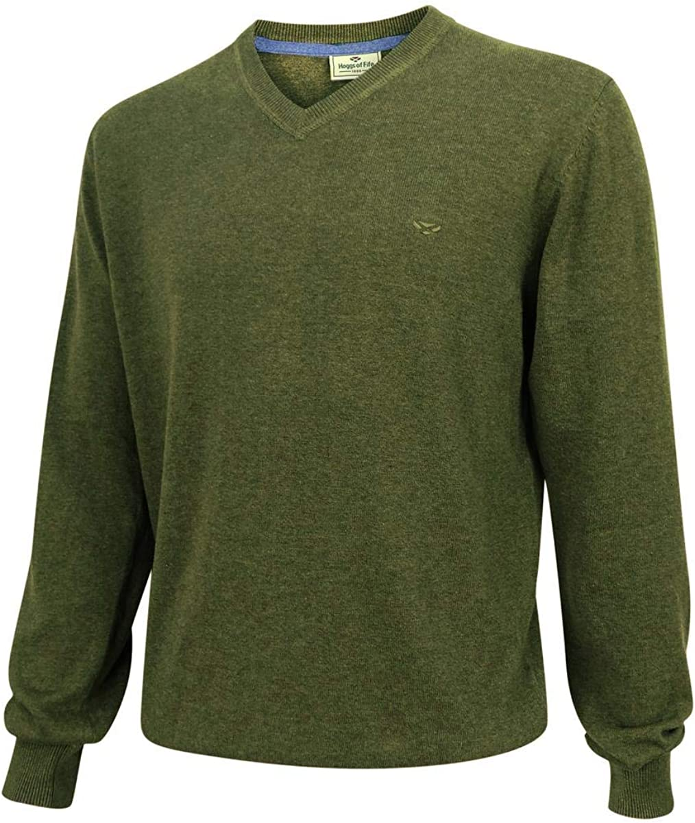 Hoggs of Fife Stirling LS Pullover Olive