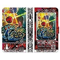 ブレインズ AQUOS ZETA SH-04H SERIE SHV34 Xx3 506SH 手帳型 ケース カバー あまーいフルーツ時計 テクスチャー 赤 アトリエアイリス 猫 動物 かわいい 油絵