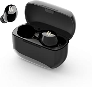Edifier TWS1 True Wireless Earbuds - Up to 32 Hour Battery Life with Charging Case and Mic, Bluetooth v5.0 aptX, IPX5 Splash & Sweatproof, Easy Pairing - Black