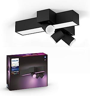 comprar comparacion Philips Hue Centris Lámpara Inteligente LED negra (3 focos + lámpara), con Bluetooth, Luz Blanca y Color, Compatible con A...