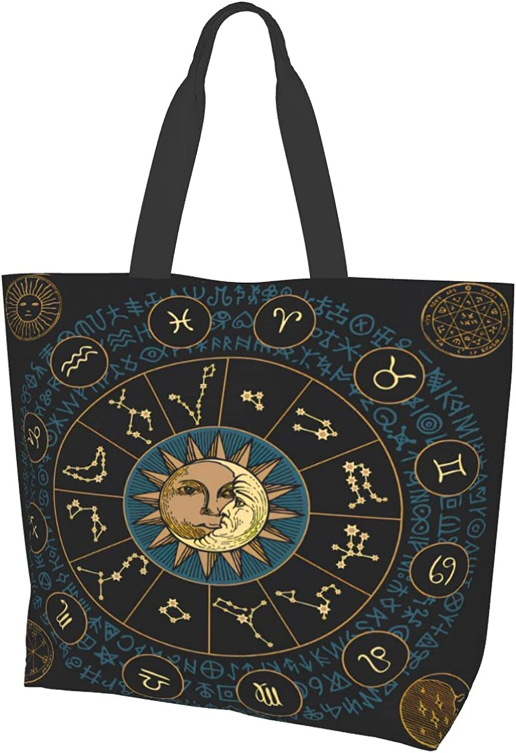 Banner 2021 With Signs Zodiac And Moon Foldable Hand Women Travel Bag Portland Mall