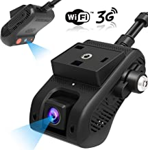 Dual Dash Cam, Lncoon 3G/WiFi Car Dash Camera 1080P with 3G Live Video Streaming Via APP/PC, GPS Tracking, Dashboard Camera DVR Recorder with Loop Recording/G-Sensor/Power Cutoff, Vibration/SOS Alarm