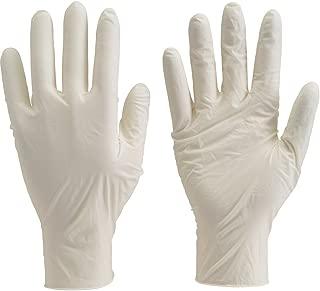 TRUSCO(トラスコ) 使い捨て極薄手袋(天然ゴムパウダーフリー)100枚入 M 白