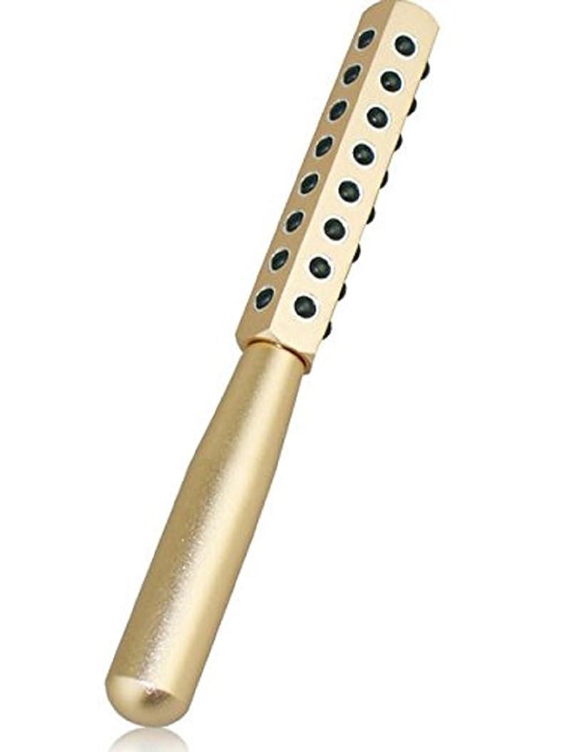適性動物排気CREPUSCOLO ゲルマローラー 美顔器 美肌 ハリ ツヤ ほうれい線 純度99% ゲルマニウム粒子40粒/額 ほほ 目じり あご~首すじ デコルテ 二の腕 手の甲 気になるところをコロコロ ゴールド シルバー (ゴールド)