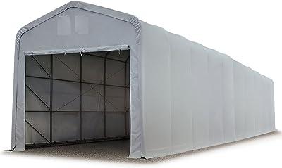 Zelthalle 8x10 m 3 4,46m Höhe LAGERZELT Ganzjährig PVC 600 g//m2 Weidezelt