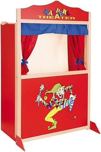 Kasperletheater aus Holz   In Deutschland hergestellt   Größe  ca. 73 x 40 x 120 cm   für Kinder ab 3 Jahren