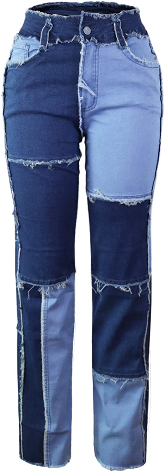 Atditama Womens Slim High OFFicial shop Waisted Distressed Spring new work Patched Hippi Jeans