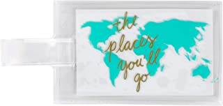 About Face Designs The Places You'll Go in Gold Women's Small Durable Luggage Tag