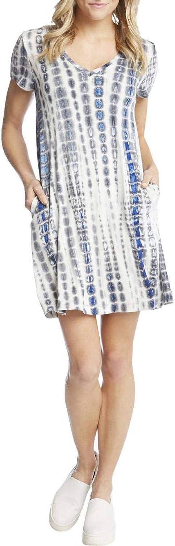 Karen Kane Karen Womens Quinn Short Sleeves Above Knee Mini Casual Dress