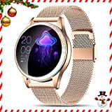 Yocuby Smart Watch for Women,Bluetooth Fitness Tracker Compatible with iOS,Android Phone, Sport Activity Tracker with Sleep/Heart Rate Monitor, Calorie Counter