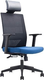 Escritorio Silla alta espalda curvada malla Home Office Computer Presidente Ejecutivo Altura ajustable giratoria (Negro),D