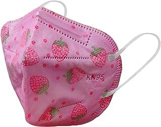 Máscaras KN95 Rosa Morango Infantil Criança - Kit de 10, 20, 30, 40, 50, 100 Unidades - FPP2 PFF2 - Filtragem > 95% - Emba...