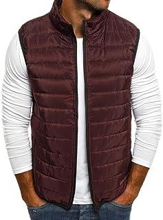 Kstare Mens Vest Jacket Winter Warm Waistcoat Lightweight Zipper Sleeveless Water-Resistant Packable Puffer Down Coat