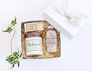 Bridal Party Gifts - Bridesmaids Thank You Spa Gift Set - Essential Oil Aromatherapy Gift Box